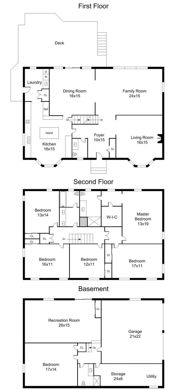 center hall colonial house plans center colonial floor plans 5000 house plans 23265