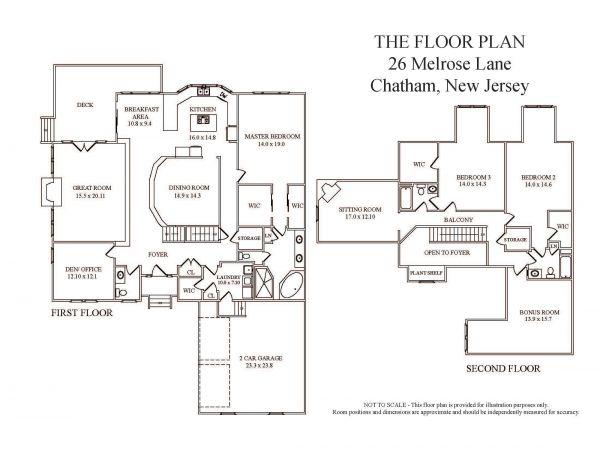 26 melrose lane chatham nj town home for sale kim cannon for Melrose house plan