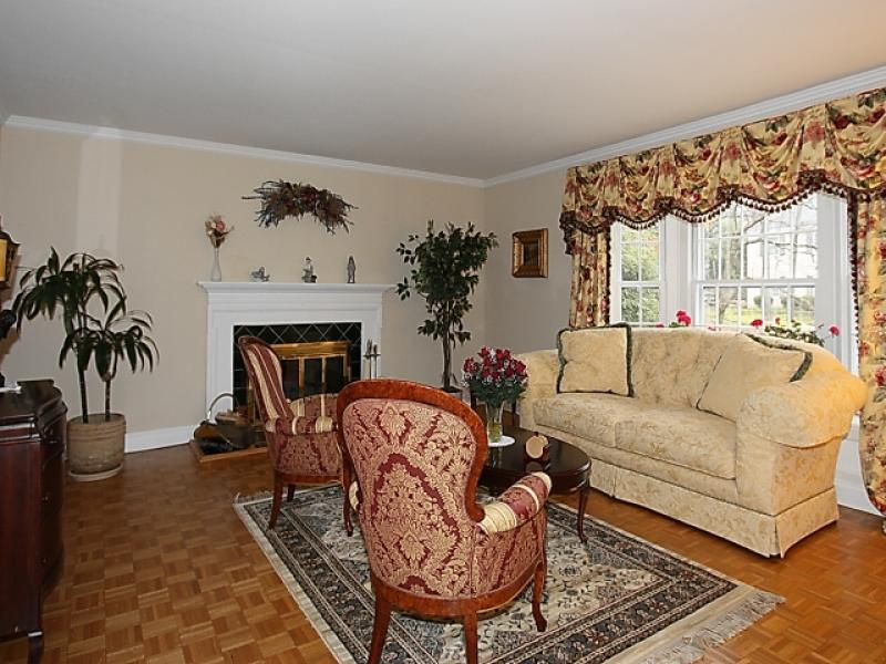 Summit nj center hall colonial home for sale new jersey for Living room of satoshi tax